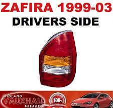 VAUXHALL ZAFIRA A 1999-03 LUCE POSTERIORE POSTERIORE LENTE dei driver OFF SIDE Club DTI Comfort