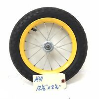 "Complete 12"" Front Bicycle Yellow Wheel w/ Tire 12 1/2 X 2 1/4 Toddlers Bike H41"