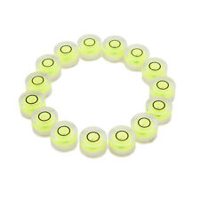 10pcs Tiny Disc Bubble Spirit Level Round Circle Circular Green Tripod 10x6mm GT