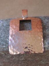 Navajo Indian Jewelry Copper Hammered Pendant! Handmade by Douglas Etsitty