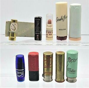 Vintage Lot of 10 pieces Mini Collectable Lipsticks  #4