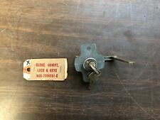 1956 FORD CAR GLOVE COMPARTMENT BOX LOCK WITH KEYS NOS FORD 319