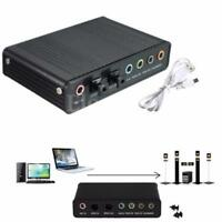 USB External S/PDIF Optical Sound Card 5.1 CH Box DAC Audio For PC Laptop New