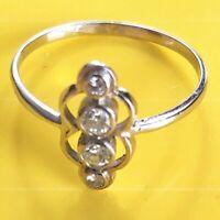 Antik Stil Exklusiver Jugendstil Echt 585 Weißgold Diamanten Achtkantschliff