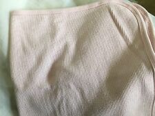 Vintage Or Modern  PINK Waffle Weave Cotton Thermal Blanket Preowned