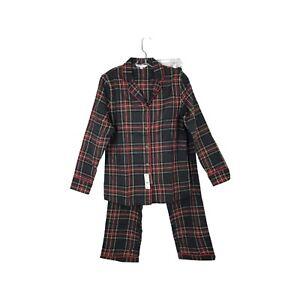 BROOKS BROTHERS Set Of Pajama Size Small, Long Sleeves & Pants Plaid Multicolor
