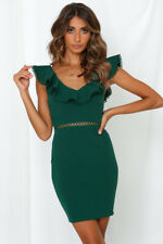 BNWT Emerald Green Cut Out Catch Your Eye Bodycon Cocktail Dress size 6 8 10