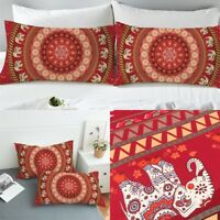 Pillowcase Indian Style Cover Home Textile Microfiber Set Of 2 Pillowcases