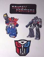 TRANSFORMERS ULTIMATE PATCH SET OF (4) PREMIUM QUALITY EMBROIDERED PATCHES