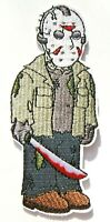 """Jason Voorhees """"Friday the 13th"""" xL Embroidered Patch -new"""