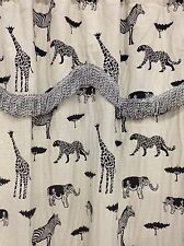 4743 One Pair(2pcs) 118'X84' Animal Safari Window Curtain Drapes w/Valence Sheer