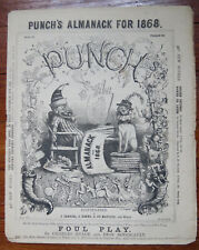 PUNCH'S ALMANAC For 1868 = 19th C British Magazine - Darwin Natural Selection