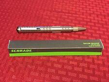 Chrome Schrade Tactical Pen, Handcuff Key, Glass Breaker Defense Tool SCPEN10C