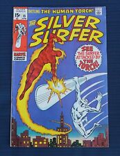 MARVEL THE SILVER SURFER #15 ATTACKED BY THE HUMAN TORCH 1970