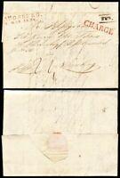 1834, kpl. Chargébrief von Augsburg nach Nürnberg