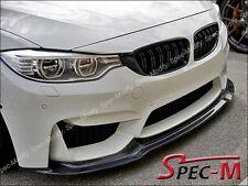 V Style Carbon Fiber Front Bumper Spoiler Lip Fits 2015+ BMW F80 M3 F82 M4