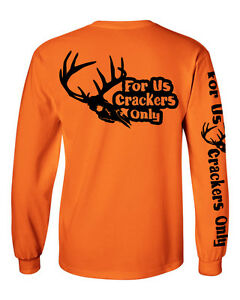 For Us Crackers Only long sleeve deer skull logo t shirt F.U.C.O. hunting south