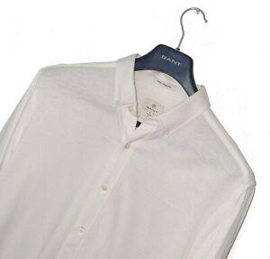 Men's GANT Premium *COOL COMMUTER* White Button Down Shirt 17.5 43-44/ XL *VGC*