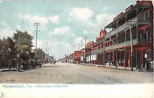 c.1905 Stores Palafox St. looking South Pensacola FL post card Tuck