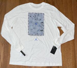 North Carolina Tar Heels UNC Nike Jordan Long Sleeve Basketball Court Shirt XL
