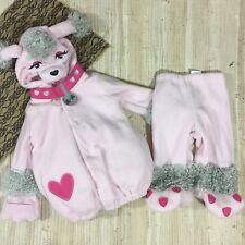 Old Navy Poodle Costume Fi Fi Girls Size 12-24 Months Pink Fleece Plush Warm