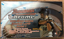 1999 BOWMAN CHROME SERIES 1 BASEBALL FACTORY SEALED HOBBY BOX: GOLD REFRACTORS