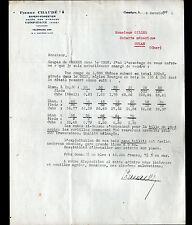 "COMPIEGNE (60) EXPERT FORESTIER /BOIS du CHER ""Pierre CHAUDE"" Tarifs en 1934"