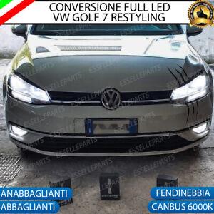 KIT FULL LED VW GOLF 7 RESTYLNG  ANABBAGLIANTI ABBAGLIANTI FENDINEBBIA 6000K