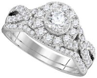 Platinum GIA Certified Diamond Bridal Set 2.25 Carat Round Shape Diamond