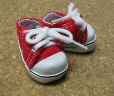 "Doll Shoes, 38mm RED Sneakers for 11"" Kaye Wiggs, others"