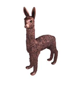 Alpaca Cria Standing Bronze Figure Frith Sculpture VB028 VeronicaBallan Ornament