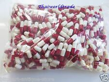 1000 Empty Gelatin Capsules Size 0 Colored White Red Kosher Gel Caps Free Ship