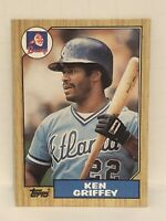 1987 Topps Ken Griffey baseball card Atlanta Braves Mint #711 MLB Legend OF Reds