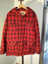 Vtg Woolrich Mackinaw Buffalo Plaid Wool Hunting Jacket