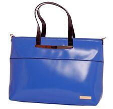 LA Fatima Blue Tote Italian Leather Bag/Office Bag/Oversize Tote Bag/LeatherBag/