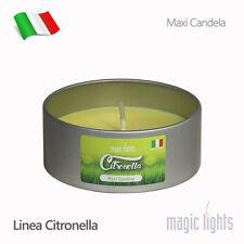 CANDELA MAXI ALLA CITRONELLA TEALIGHT MAGIC LIGHTS PROFUMO AMBIENTE CITRONELLA