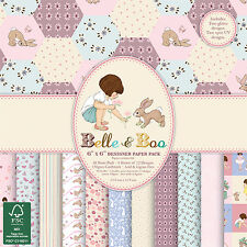 Belle and Boo II Sample 12 x 6 x 6 Paper Pack for cards or crafts
