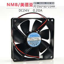 1pc NMB 3610KL-05W-B50 fan 24V 0.20A 90*90*25mm 2pin #M2946 QL