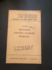 1952 Army TM 112536 Rectifier Battery Charger PPP-255A/FT