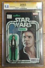 Star Wars #2 John Tyler Christopher Han Solo Action Figure CGC SS 9.8 Stan Lee