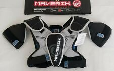 New Maverik 3001037 Small Black / Silver Lacrosse Charger Shoulder Pads
