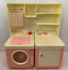 Imco Vintage Doll Laundry Room Playset washer Dryer Basket Pink hong Kong Sears