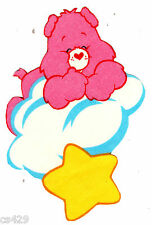 "6"" CARE BEARS ON A CLOUD LOVE-A-LOT GLOW IN THE DARK FABRIC APPLIQUE IRON ON"