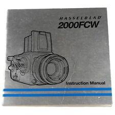 Hasselblad 2000FCW Instruction Manual (English) (10317 E1.8 5 1985)