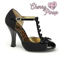 AU STOCK Pin Up Pinup Couture Smitten T-Bar Rockabilly Vintage Shoes Heels