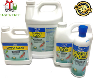 API Pond Simply Clear Quickly Clarifier Bacterial & Cloudy Water 16oz-64oz 1gal