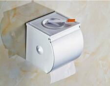 Wall Mount Matt Toilet Paper Roll Holder Tissue Box With Cover Space Aluminum