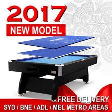 NEW! 4IN1 7FT POOL TABLE SNOOKER BILLIARD + PING PONG & POKER TOP FULL GIFT PACK