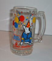 Vintage 1987 Spuds MacKenzie Heavy Glass Beer Mug Bud Light Anheuser Busch