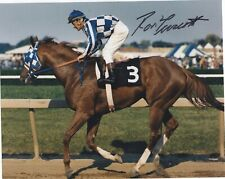 RON TURCOTTE SIGNED AUTOGRAPH TRIPLE CROWN WINNER SECRETARIAT 8X10 PHOTO